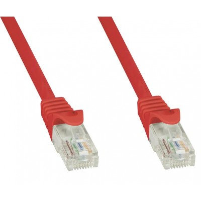 Network Patch Cable in CCA Cat.5E UTP 10m Red - Techly Professional - ICOC CCA5U-100-RET-2