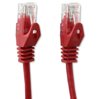 Network Patch Cable in CCA Cat.5E UTP 1m Red - Techly Professional - ICOC CCA5U-010-RET-3