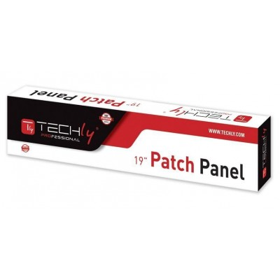 Patch Panel STP 24 Ports RJ45 Cat.5E Gray Techly - Techly Professional - I-PP 24-RST-1