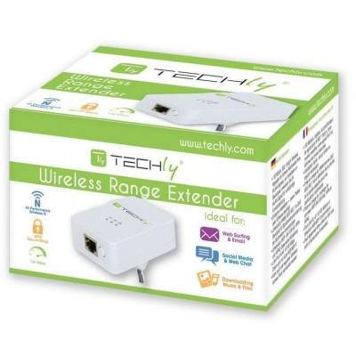 Wall Plug 150N Wireless Router Amplifier Repeater6 - Techly - I-WL-REPEATER6-1