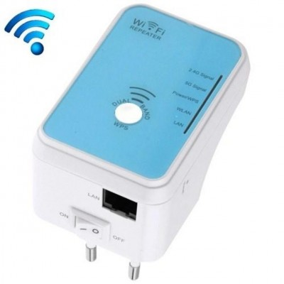 Wall Plug WiFi Mini Router 300Mbps Dual Band Repeater4 - Techly - I-WL-REPEATER4-2