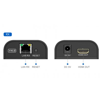 Additional HDMI Extender Receiver on Cat.6 Cable 1080p@60Hz up to 120m - Techly Np - IDATA EXTIP-373RA2-1