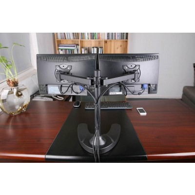 "13""-24"" Desk Stand for 2 Monitor with Base - Techly - ICA-LCD 3510-7"
