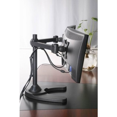 "13""-24"" Desk Stand for 2 Monitor with Base - Techly - ICA-LCD 3510-5"