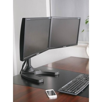 "13""-24"" Desk Stand for 2 Monitor with Base - Techly - ICA-LCD 3510-1"
