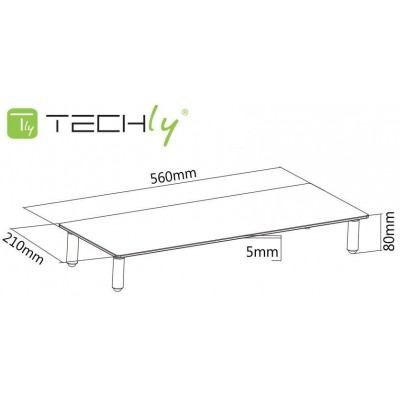 Universal Tabletop Monitor Riser - Techly - ICA-MS 461-3