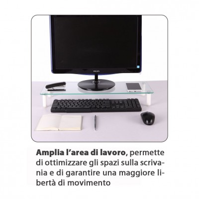 Universal Tabletop Monitor Riser - Techly - ICA-MS 461-9