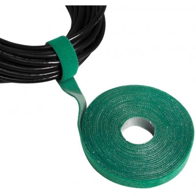 Velcro Roll Cable Management Length 4m Width 16mm Green - Techly - ISWT-ROLL-164GREETY-4