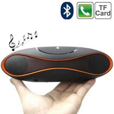 Portable Bluetooth Wireless Rugby Speaker MicroSD/TF Black/Red - Techly - ICASBL01-15