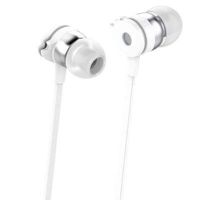 Stereo earphones with microphone White  - Techly - SB-HP A1WHTY-2