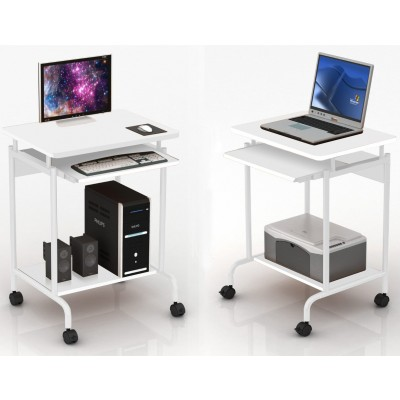 Computer desk ''Compact'' White - Techly - ICA-TB S005W-1