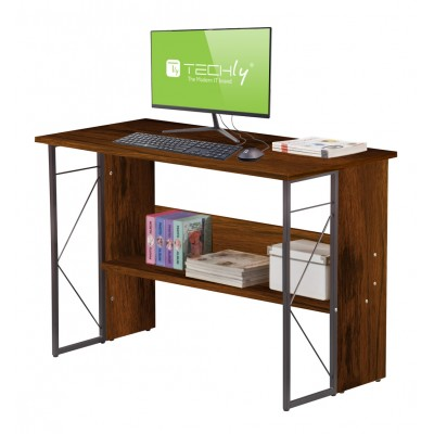 Computer Desk with Modern Design and Sturdy Steel Structure - Techly - ICA-TB-3524C-2