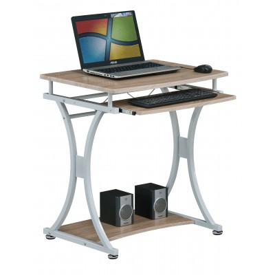 Compact PC Desk with Removable Drawer White/Oak - Techly - ICA-TB 328O-7
