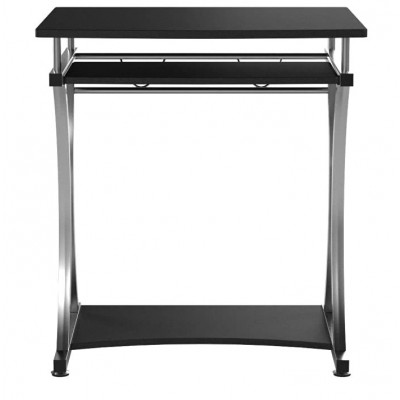 Compact Desk for PC with Removable Tray, Black Graphite - Techly - ICA-TB 328BK-4