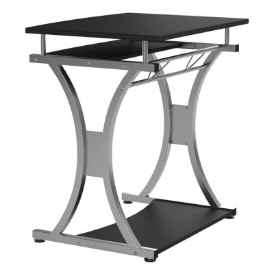 Compact Desk for PC with Removable Tray, Black Graphite - Techly - ICA-TB 328BK-5