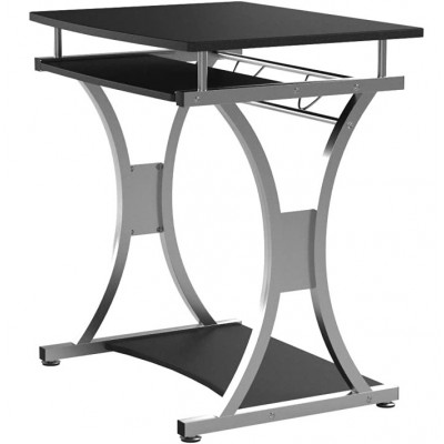 Compact Desk for PC with Removable Tray, Black Graphite - Techly - ICA-TB 328BK-6