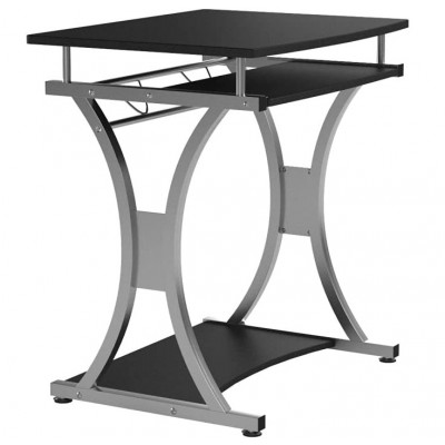 Compact Desk for PC with Removable Tray, Black Graphite - Techly - ICA-TB 328BK-7