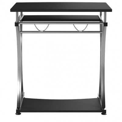 Compact Desk for PC with Removable Tray, Black Graphite - Techly - ICA-TB 328BK-8