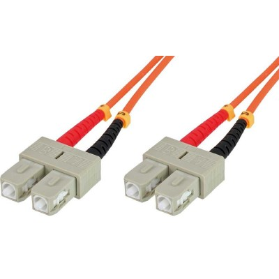 SC/SC Multimode 62.5/125 OM1 1m Fiber Optics Cable - Techly Professional - ILWL D6-B-010-1