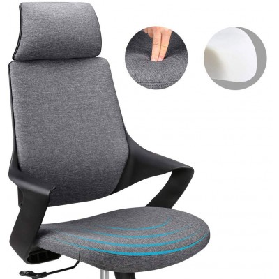 Office Chair with High Modern Design Back Grey  - Techly - ICA-CT MC017-2