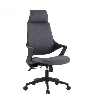 Office Chair with High Modern Design Back Grey  - Techly - ICA-CT MC017-1