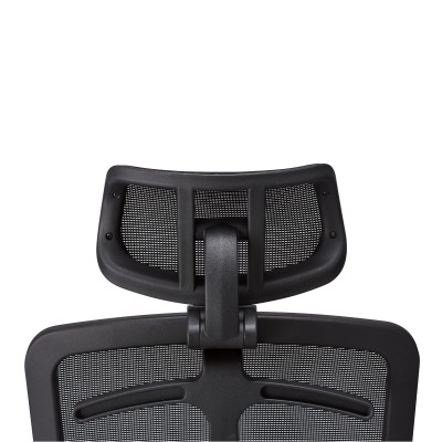 Office Chair with High Back, Headrest and Chrome Base Black - Techly - ICA-CT MC020-4