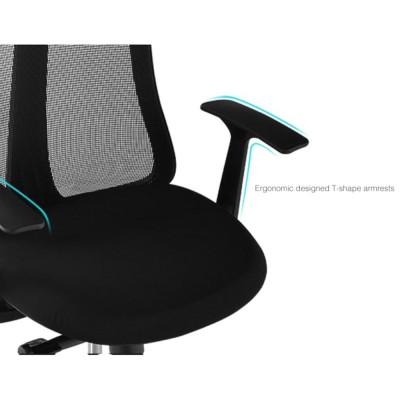 Office Chair with Ergonomic Back Black - Techly - ICA-CT MC086BK-4