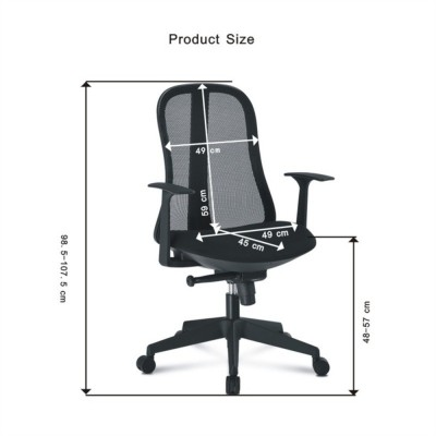 Office Chair with Ergonomic Back Black - Techly - ICA-CT MC086BK-5