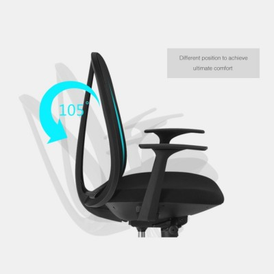 Office Chair with Ergonomic Back Black - Techly - ICA-CT MC086BK-8