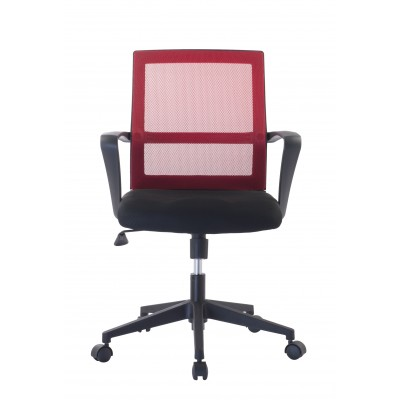 Office Chair with Middle Back Black / Bordeaux - Techly - ICA-CT MC064-2