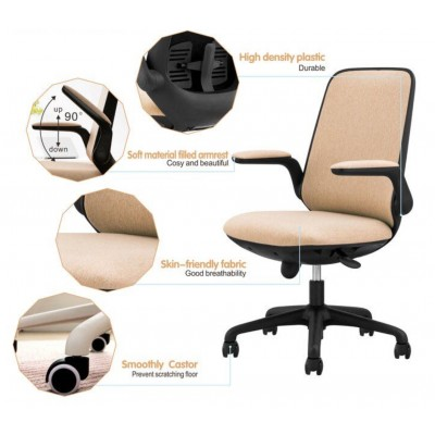 Office Chair Adjustable in Height and Variable Tilt Black - Techly - ICA-CT ARMDL-BK-6