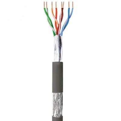 SF/UTP Hank Cable Cat.5E CCA 100m Solid Outdoor Black - Techly Professional - ITP8-FSS-0100LO-1
