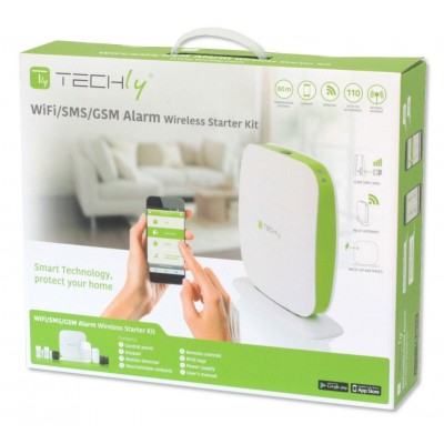 Wi-Fi/SMS/GSM wireless alarm systemTLY ALARM2 - Techly - I-ALARM-KIT002-4