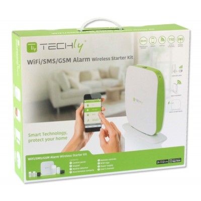 Wi-Fi/SMS/GSM wireless alarm systemTLY ALARM2 - Techly - I-ALARM-KIT002-3