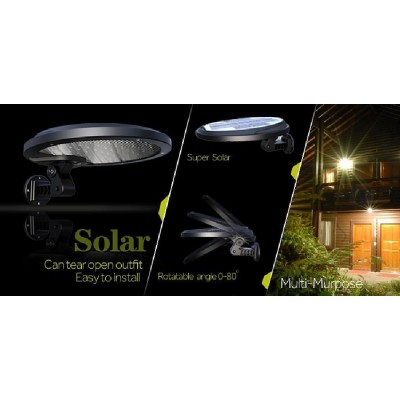 Solar LED lamp tilt Wall Outdoor Sensor with Movement - Techly Np - I-LAMP-SL08-4