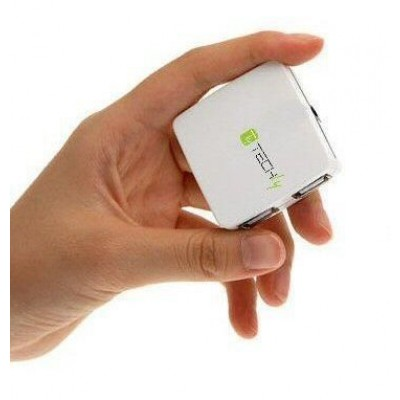 Box mini Hub USB 2.0 4 porte Bianco - Techly - IUSB2-HUB4-480WH-1