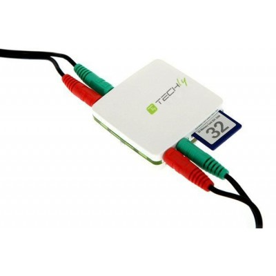 USB Card Reader 80 in 1 with Free Audio - Techly - IUSB2-CARD-480-1