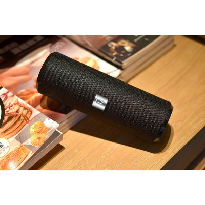 Portable Bluetooth Tube Speaker with FM Radio MicroSD Reader USB 10W Black - Techly - ICASBL21BKT-4