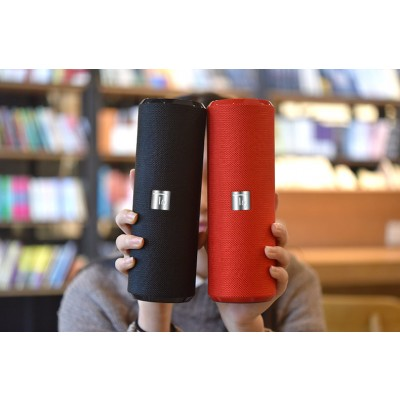 Portable Bluetooth Tube Speaker with FM Radio MicroSD Reader USB 10W Black - Techly - ICASBL21BKT-6