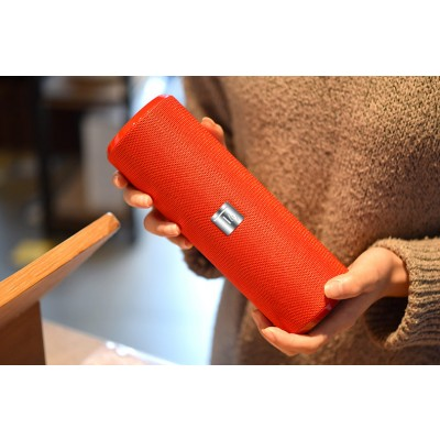 Portable Bluetooth Tube Speaker with FM Radio MicroSD Reader USB 10W Red - Techly - ICASBL21RED-9
