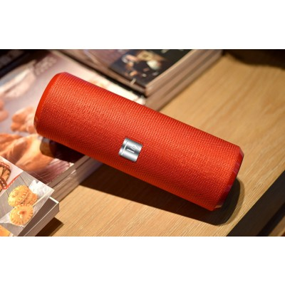 Portable Bluetooth Tube Speaker with FM Radio MicroSD Reader USB 10W Red - Techly - ICASBL21RED-4
