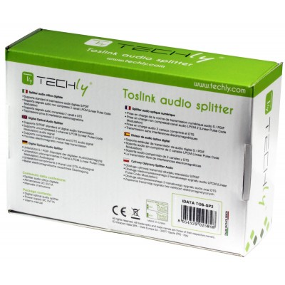 Digital Audio Splitter 2 Toslink Ports - Techly - IDATA TOS-SP2-9