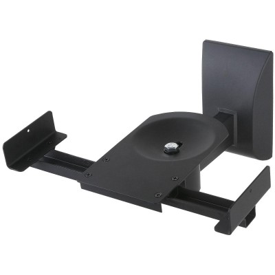 Couple Speakers Wall Brackets up to 25kg Black - Techly - ICA-SP SS201-2