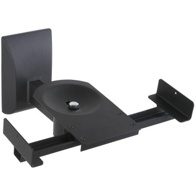 Couple Speakers Wall Brackets up to 25kg Black - Techly - ICA-SP SS201-1