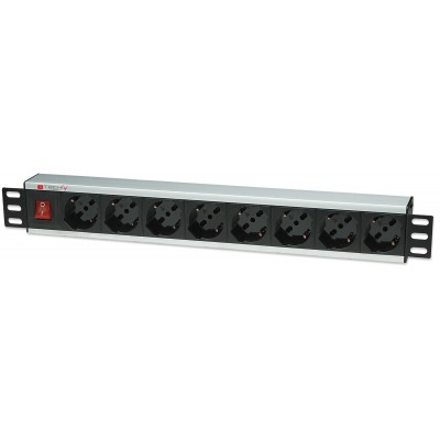 "Rack 19"" PDU 8 outputs  with switch - Techly Professional - I-CASE STRIP-18A-1"