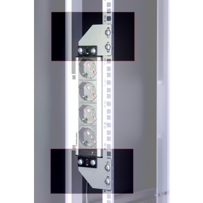Brackets for vertical mounting on rack uprights - Techly Professional - I-CASE SUPP-3G1U-1