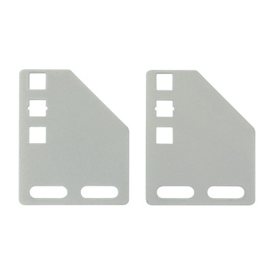 Brackets for vertical mounting on rack uprights - Techly Professional - I-CASE SUPP-3G1U-4