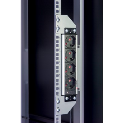 Brackets for vertical mounting on rack uprights - Techly Professional - I-CASE SUPP-3G1U-3