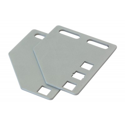 Brackets for vertical mounting on rack uprights - Techly Professional - I-CASE SUPP-3G1U-6