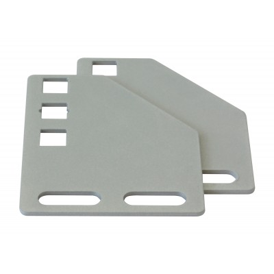 Brackets for vertical mounting on rack uprights - Techly Professional - I-CASE SUPP-3G1U-5